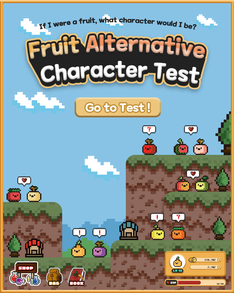 Fruit Alternative Character Test|If I were a fruit, what character would I be