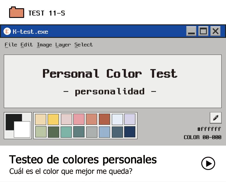 Testeo de colores personales