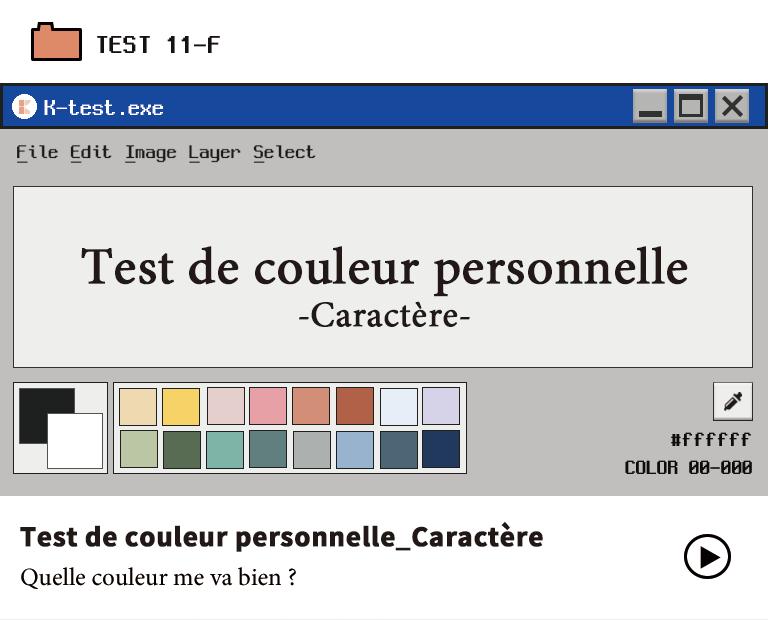 Test de couleur personnelle_Version française