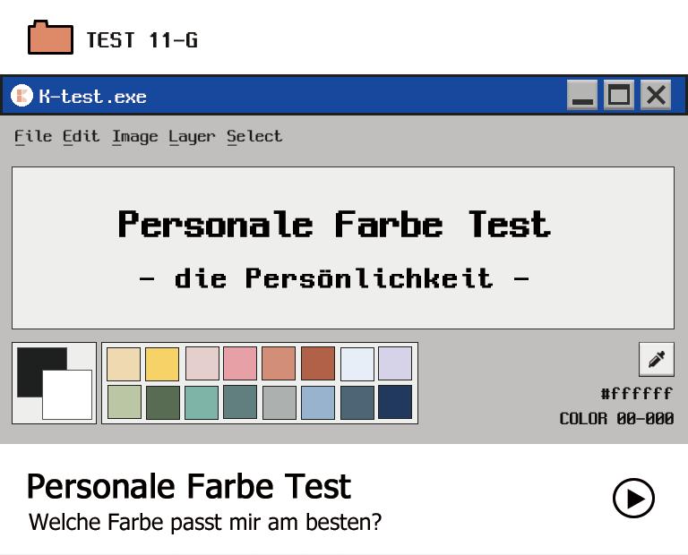 Persönliche Farbprüfung